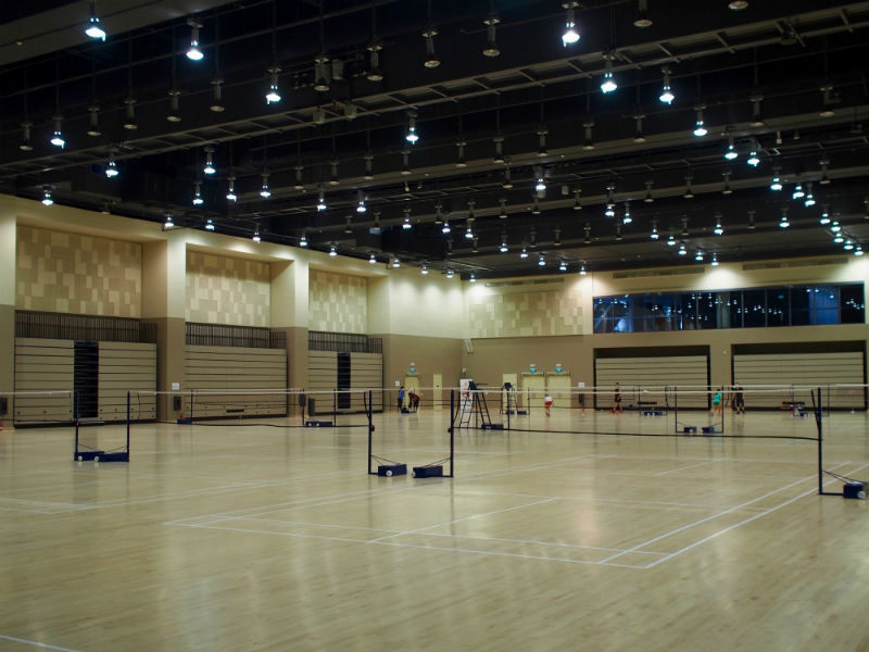 ActiveSG Badminton Courts at the Community Auditorium, Our Tampines Hub