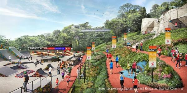 Sembawang Sports and Recreational Centre (artist impression)