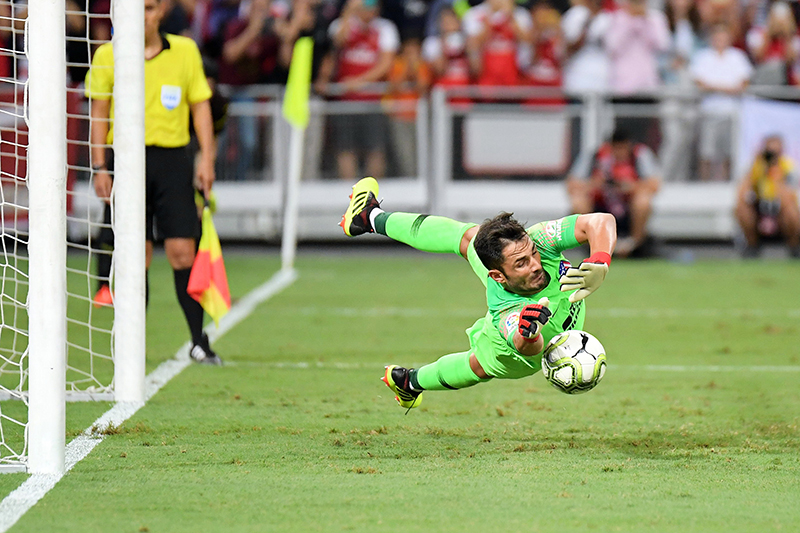 Another save by Antonio Adan at the International Champions Cup on 26 July in the National Stadium. Photo by Lim Sau Boon/SportSG