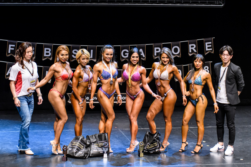 Participants from women's bikini fitness category. Photo by Andy Chua/SportSG
