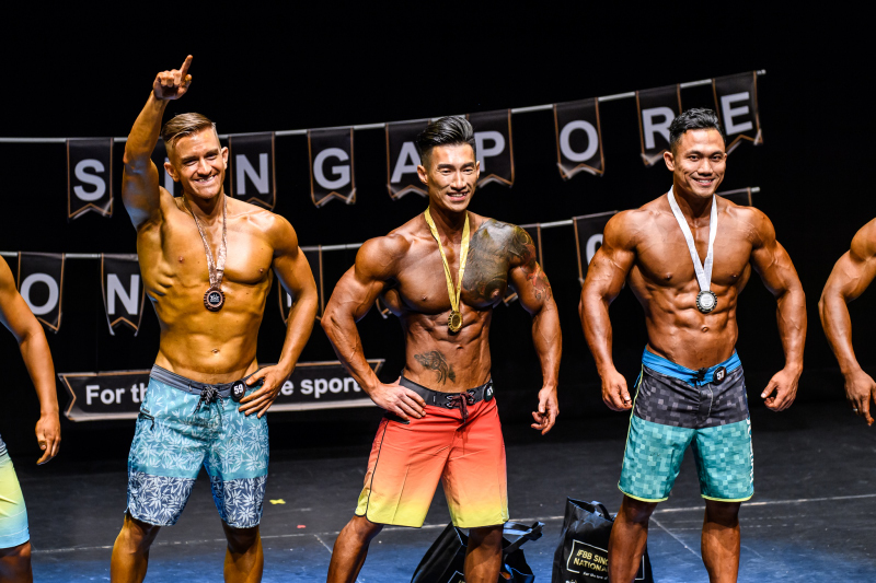 Participants from Men's Physique category. Photo by Andy Chua/SportSG