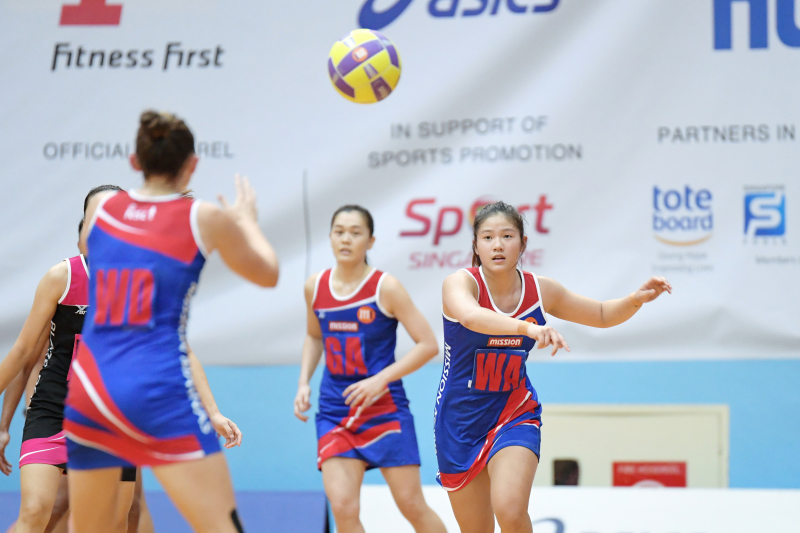 Blaze Dolphins vs Mission Mannas in the M1 Netball Super League Finals on 12 May 2018. Photo by Lim Sau Boon/SportSG