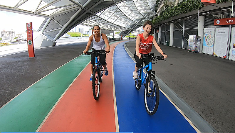 Stadium Race Get Active Reality Series Singapore Sports Hub Natalie Dau Betsy Chen
