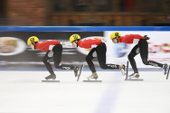 The average speed for a speed skater is 13.4 metres / second. photo by Foo Tee Fok/SportsSG