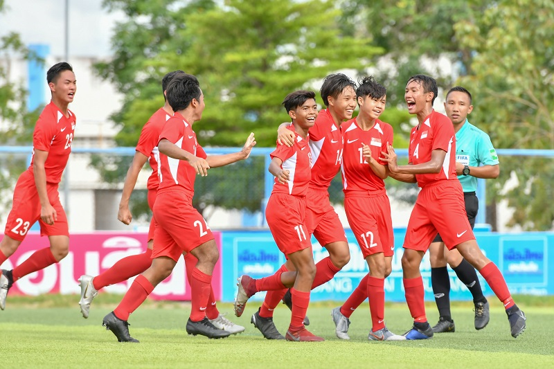 Singapore U16 football team photo: FA Thailand