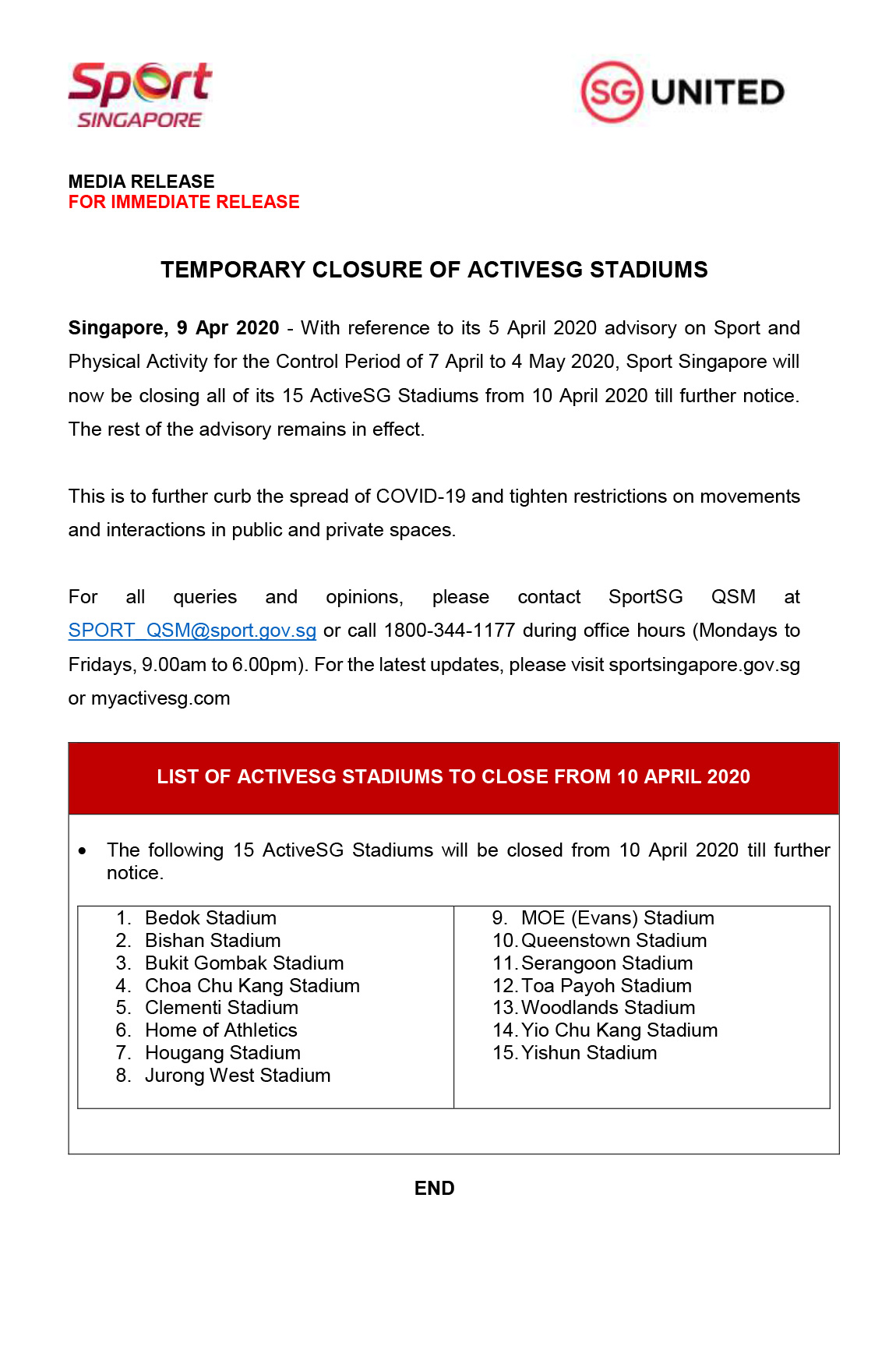 9APR-pg01-Media-Release-on-Temporary-Closure-of-ActiveSG-Stadiums