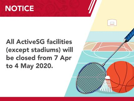 activesg facilities announcement