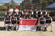 The Singapore team at the Feb 22-March 1 Under-18 Men's Softball World Cup in New Zealand.PHOTO: MELVYN EU