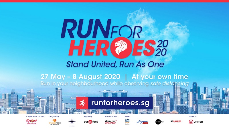 Virtual Run for Heroes 2020 to build solidarity and support for frontliners in the battle against COVID-19