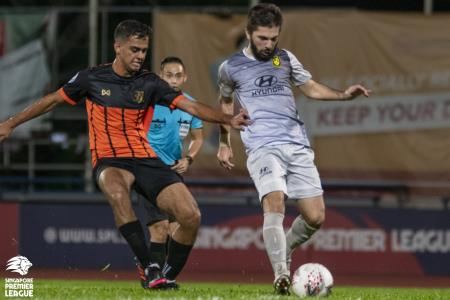 Zehrudin Mehmedovic (right) pulls all the strings for Tampines Photo: SPL