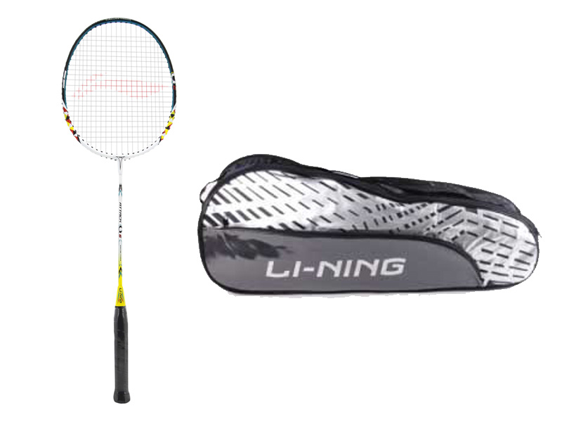 Badminton racket and bad